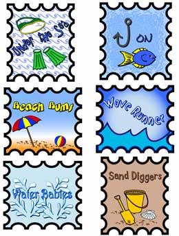 Sammlung von Briefmarken Cliparts (43)
