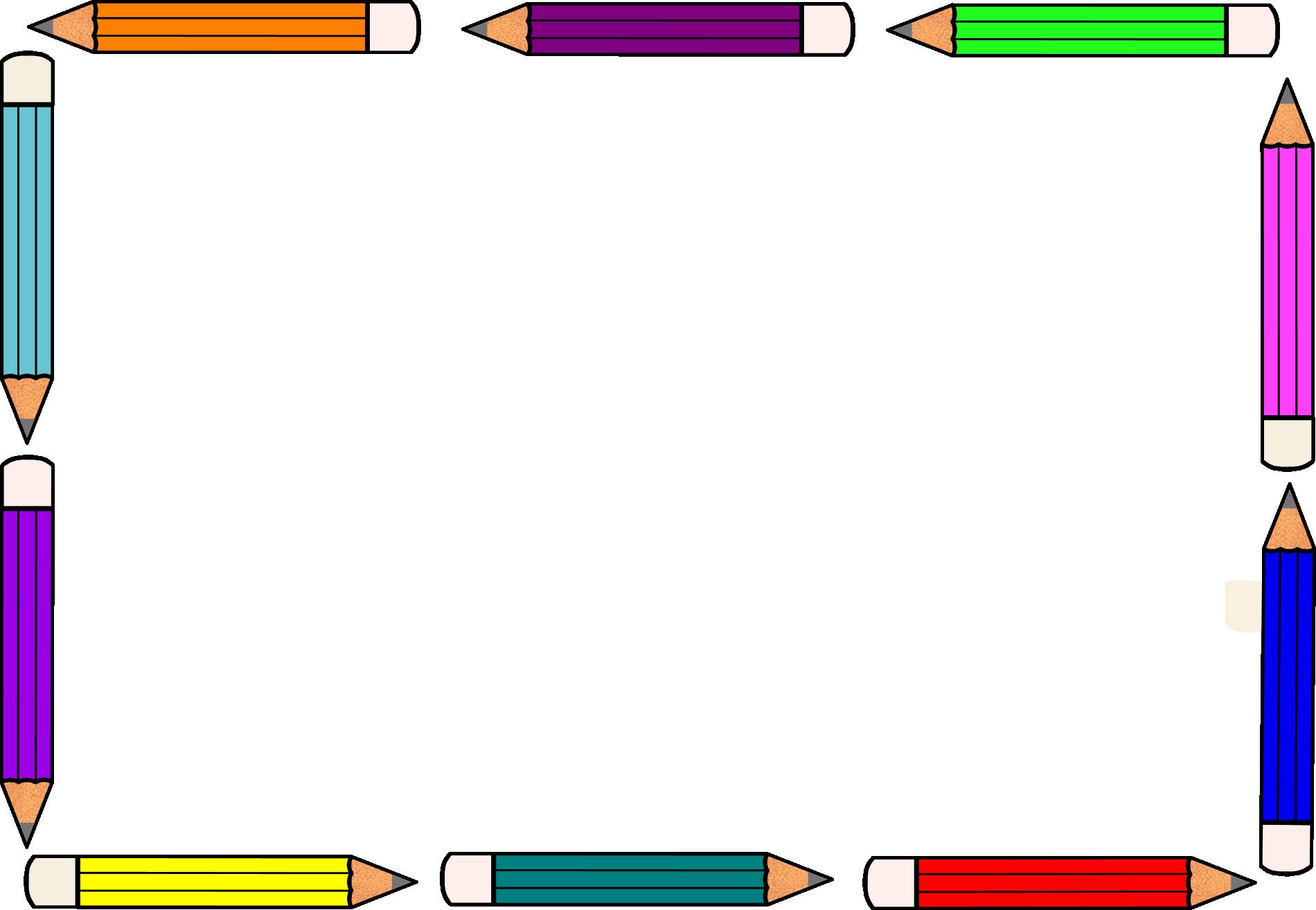Sammlung von Bleistiftrand-Cliparts (49)