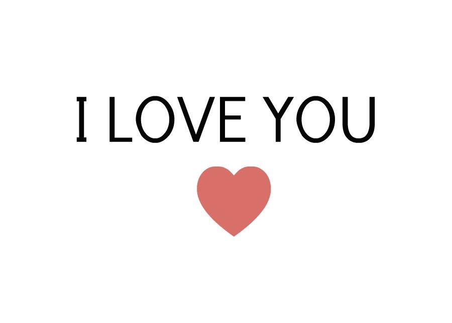 Samling af I Love You (45)