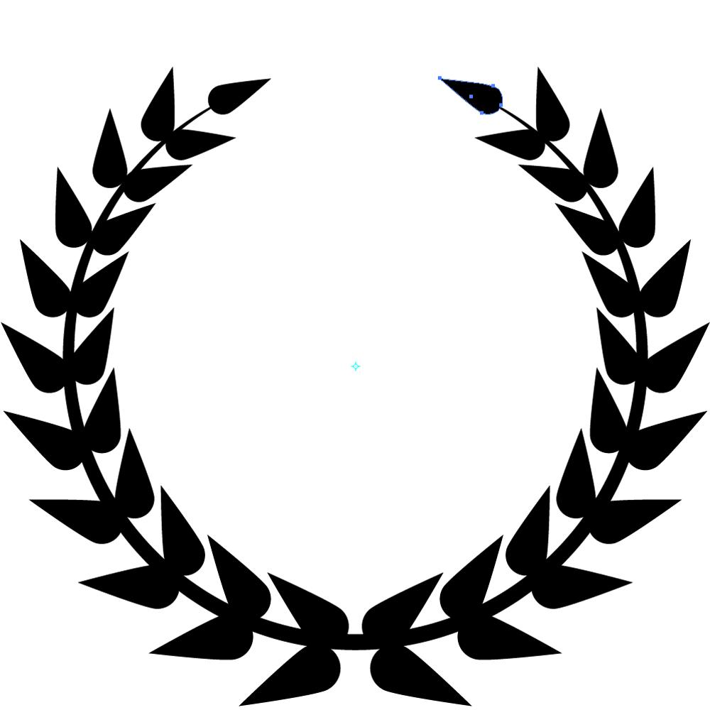 Samling af bladcirkel Cliparts (20)