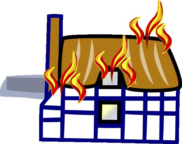 Колекция от къща в огън Клипарт (50)