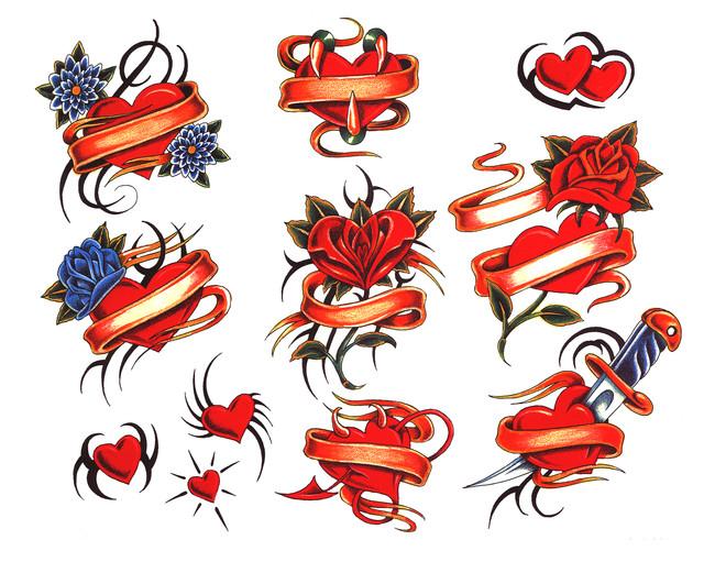 Sirds reklāmkarogu tetovējumu kolekcija (56)