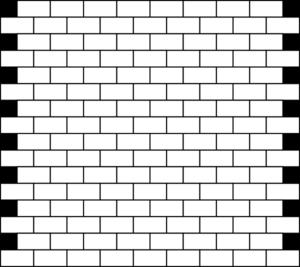 Samling af mursten Cliparts sort (39)