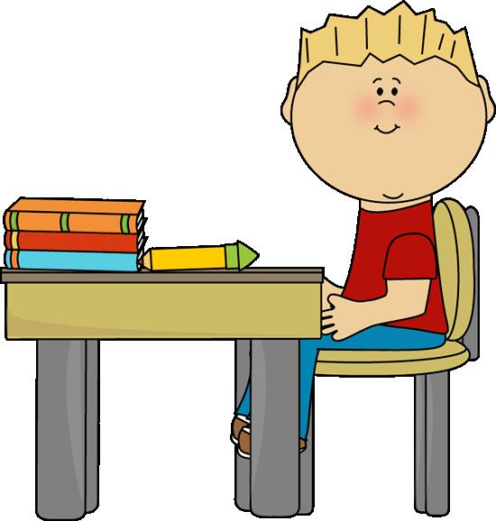 Samling af børnesiddende på stol Clipart (13)