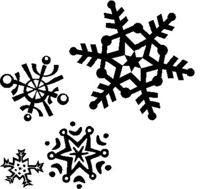 Колекция от снежни клипарти черно (45)