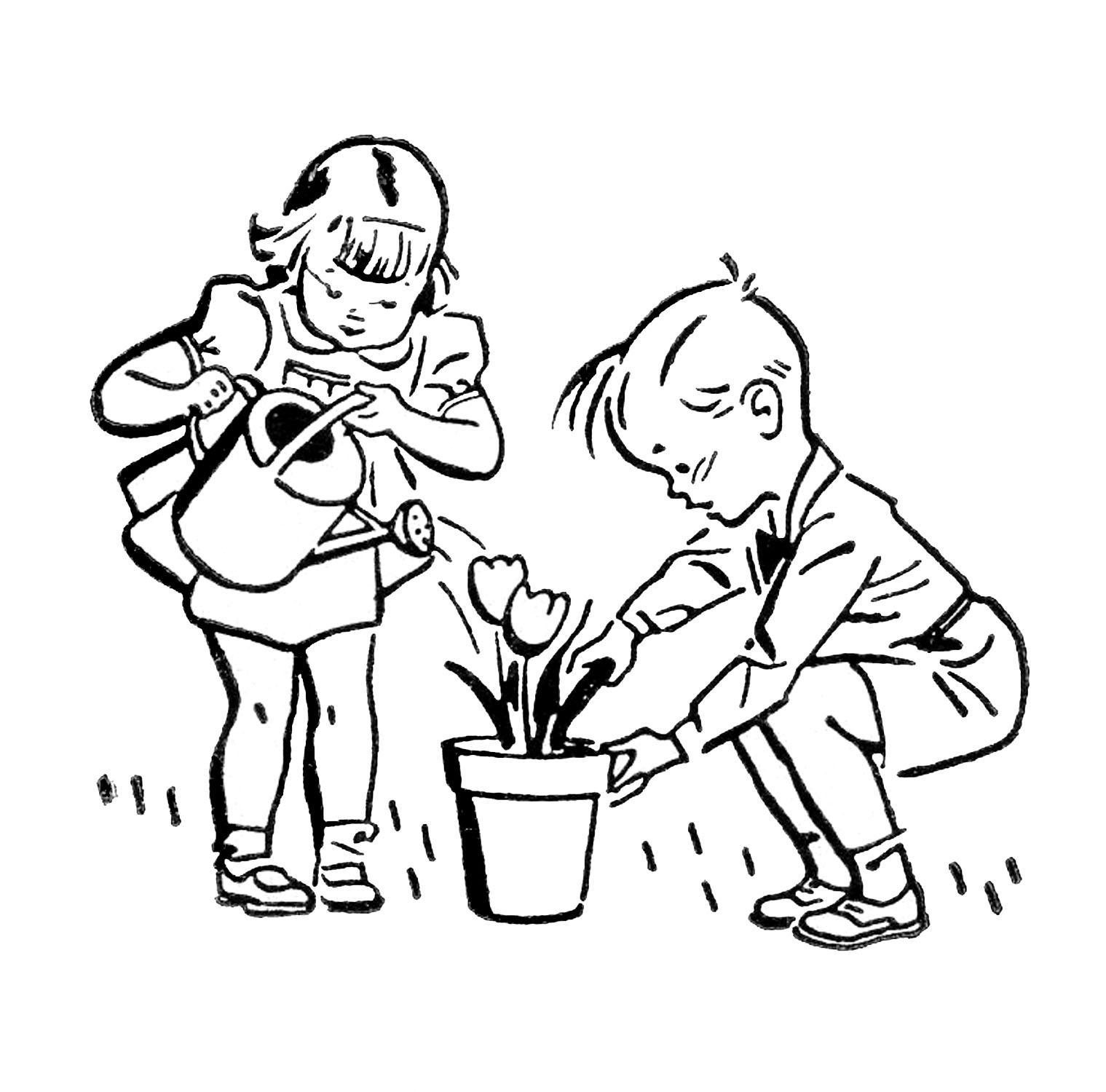 Ретро градинарски клипарти # 3076140